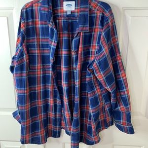 OLD NAVY NWOT PLAID XXL FLANNEL SHIRT